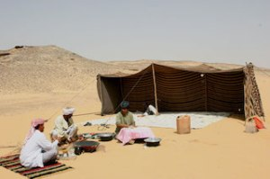 Bedouin tent in Egypt