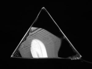 Triangular soap film