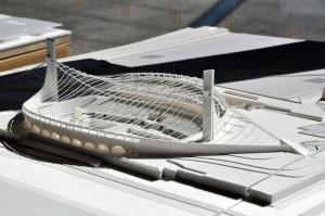 Tokyo Olympic stadium scale model 1964